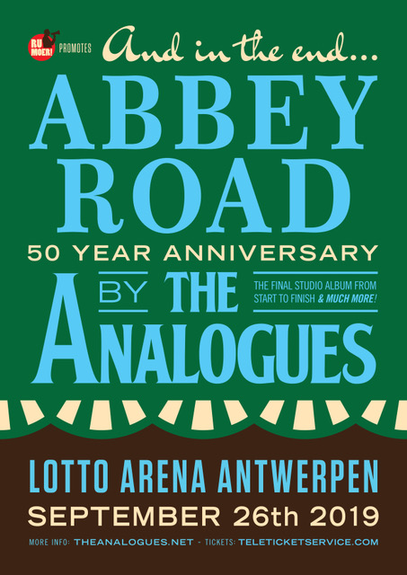 The Analogues au Lotto Arena Antwerpen jeudi 26 septembre 2019 20h
