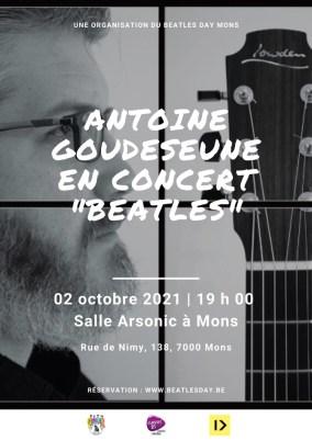 Concert acoustique d'Antoine Goudeseune à Arsonic Mons samedi 2 octobre 2021 à 19h