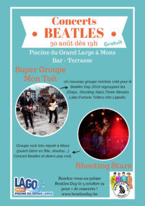 Concerts Pré-Beatles Day gratuit à la piscine du Grand Large vendredi 30 août 2019 19h