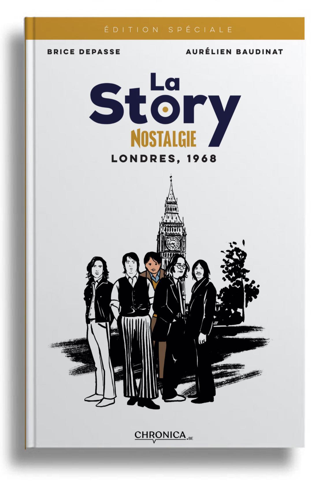 La story / Londres 1968 : une BD de Brice Depasse